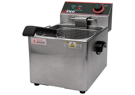 Winco EFS-16 Countertop Electric Fryer - (1) 16 lb Vat 120v