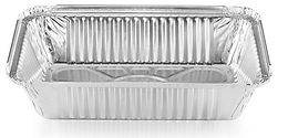 AMD Choice A1.5, 1.5LB Oblong Aluminum Foil Pans, 500/CS
