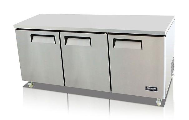 "Migali C-U72R 73"" Undercounter Work Top Refrigerator - 24.5 Cu. Ft."