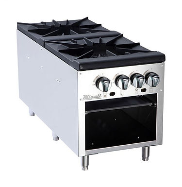 "Migali C-SPS-2-18 18"" Four Burner Countertop Gas Stock Pot Stove Range"