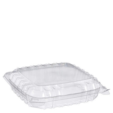 """Dart C89PST1 8 5/16"""" x 8 5/16"""" x 2"""" Shallow Container - 250/Case"""