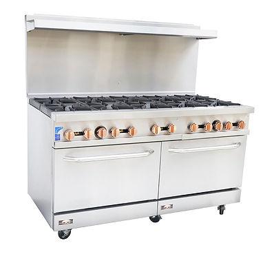 Copper Beech CBR-10 Gas Range with Standard Oven – 10 Open Burner