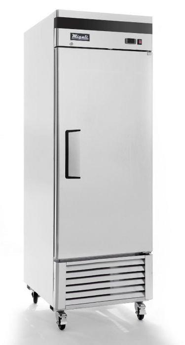 "Migali C-1RB-HC 27"" Bottom Mount Single Solid Door Reach-In Refrigerator"