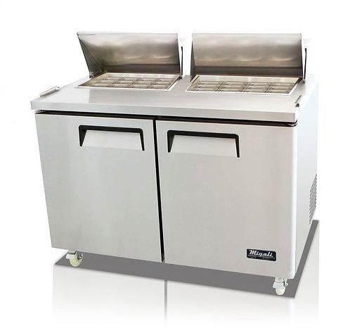 "Migali C-SP60-24BT 60"" Mega Top Bain Marie Sandwich Prep Refrigerator - 24 Pans"