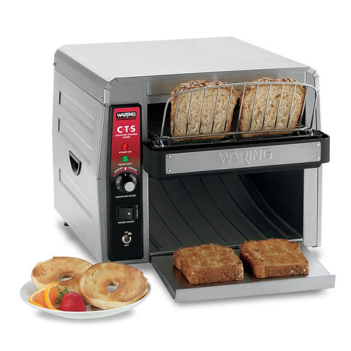 "Waring CTS1000 Conveyor Toaster, 2"" Opening"