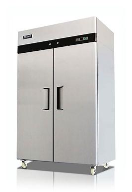 "Migali C-2R-HC 52"" Double Solid Door Reach-In Refrigerator - 49 Cu. Ft."