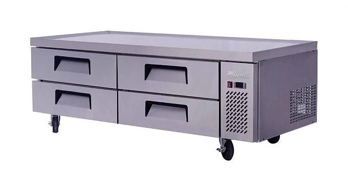 "Migali C-CB72 72"" Chef Base Refrigerated Equipment Stand, 4 Drawer"