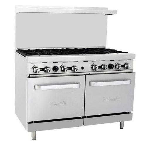 "Migali C-RO8 48"" 8 Burner Gas Range with 2 Ovens"