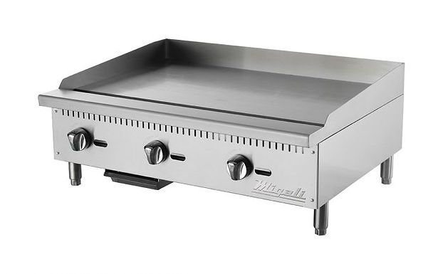 """Migali C-G36 36"""" Gas Countertop Griddle with Manual Controls"""
