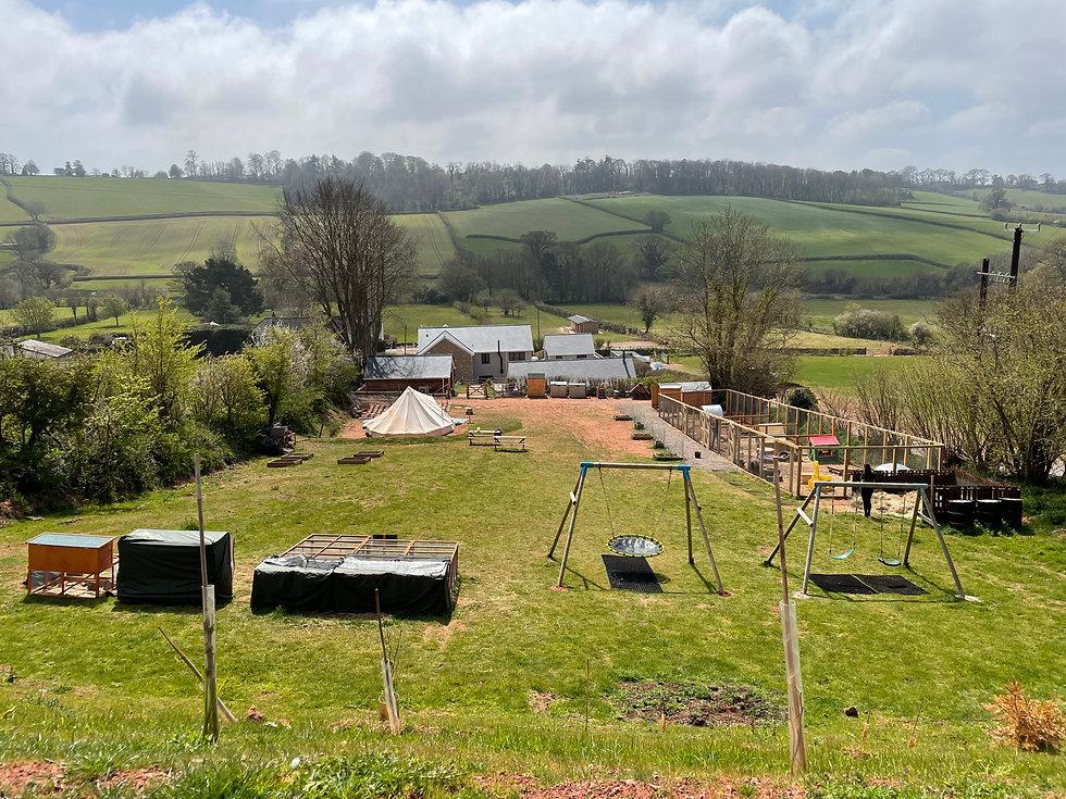 The whole farm area