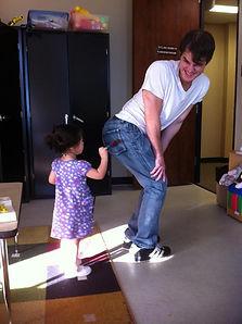Child giving Dr. Steadman a shot.jpg