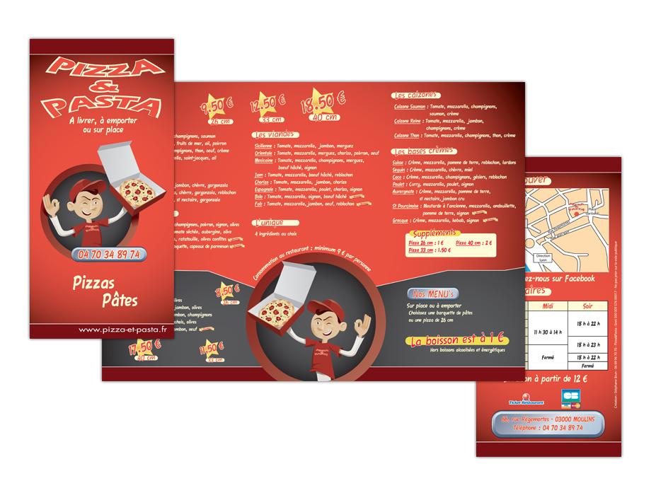 Dépliants - Pizzeria