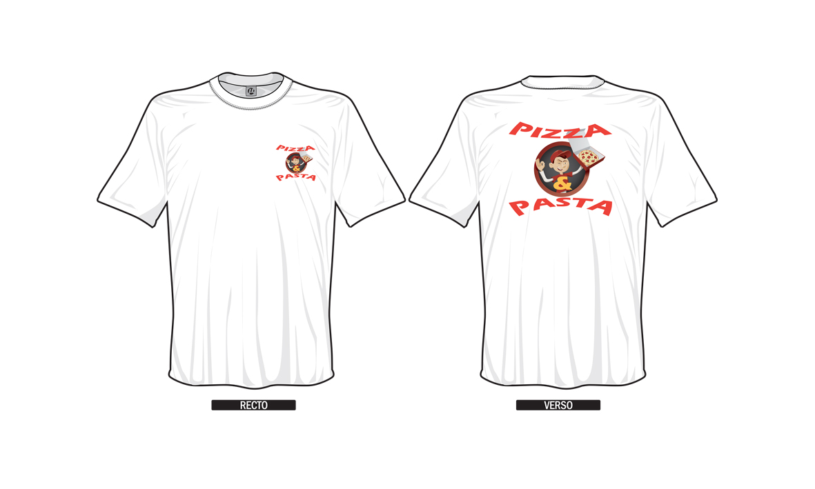Tee-Shirt Pizza et Pasta
