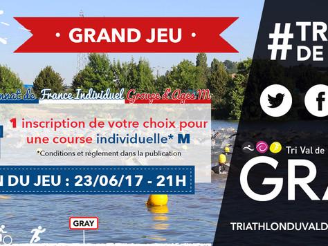 1 DOSSARD offert sur notre triathlon 2017!!!