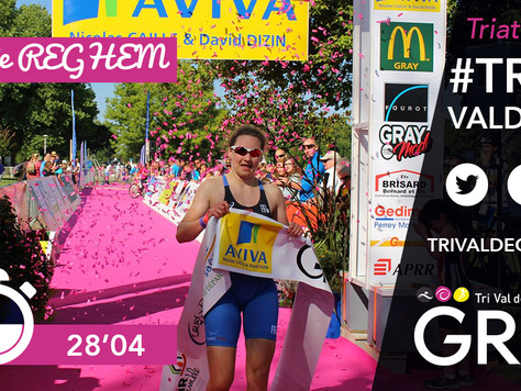 Lucie Reghem, victorieuse du triathlon XS 2016