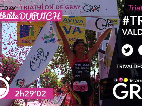 Triathlon M de Gray - Mathilde victorieuse en 2016