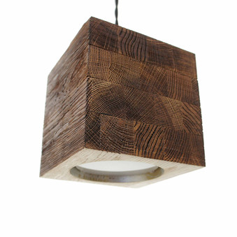 The Cube wooden lamp