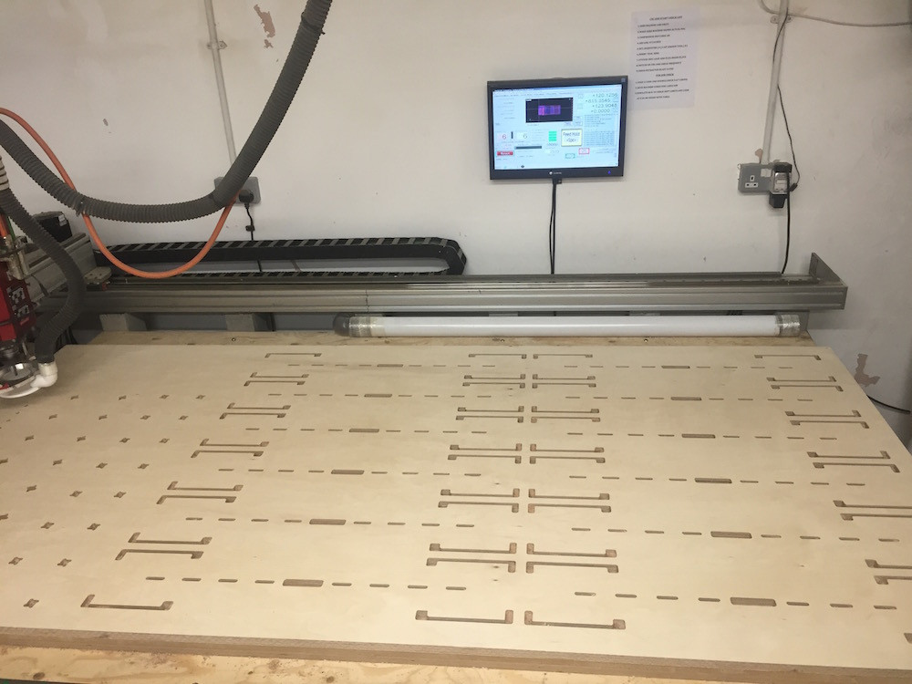 Nesting cnc cutting plywood
