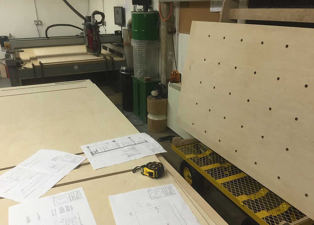 CNC cutting plywood for Kent Based Joinery Clients