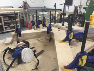 CNC fabrication Opendesk Lean desk