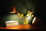 Mood shot spotty lamps