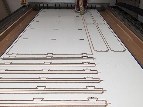 CNC cutting London plywood