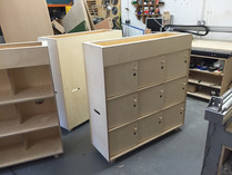 CNC fabricating Opendesk Fin Locker
