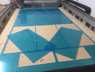 CNC cutting acrylic plastic for Lilly's Lightbox Company