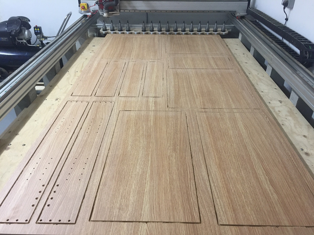 CNC cutting cabinet components in kent