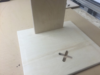 Through Cutting Holes to Fit Cross Legs