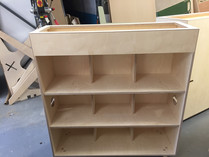 CNC fabricatiing Fin Book Shelf Planter