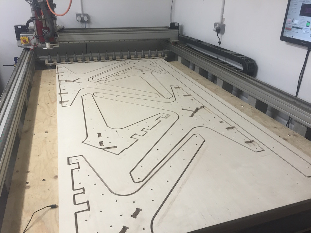 CNC cutting Team Desk Opendesk