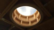 Round SkyLight windows for a DIY home build.