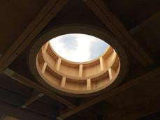 CNC cut plywood quadrants installed in s