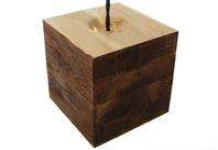 sand blasted oak wooden lamp