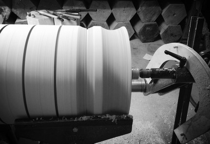 Shaping on a wood lathe