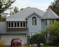 Steel metal shingle in English Slate - metal roof products and installation