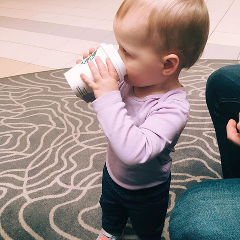 Could she be any more basic_ 😂☕️ Addison loves her Starbucks guys! Don't worry it's not coffee.jpg
