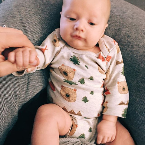 No big deal, just having a chill Saturday morning hand in hand with my handsome little guy. 😍 heart exploded.jpg