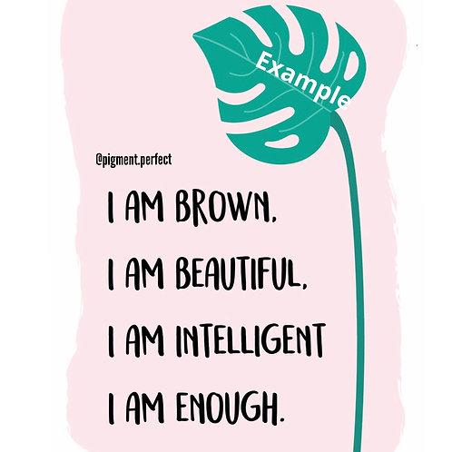 A5 Print - I am enough