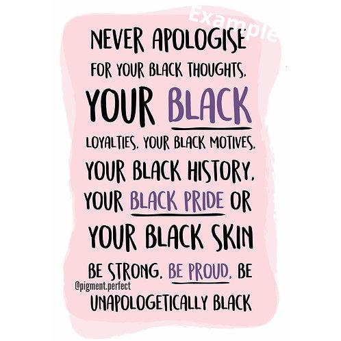 A5 Print - Unapologetically Black