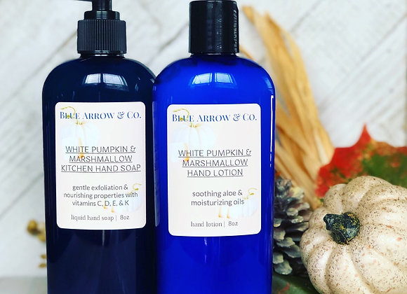 White Pumpkin Marshmallow Hand Soap & Lotion