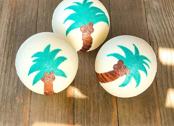 Hibiscus + Palm Leaves Bath Bomb