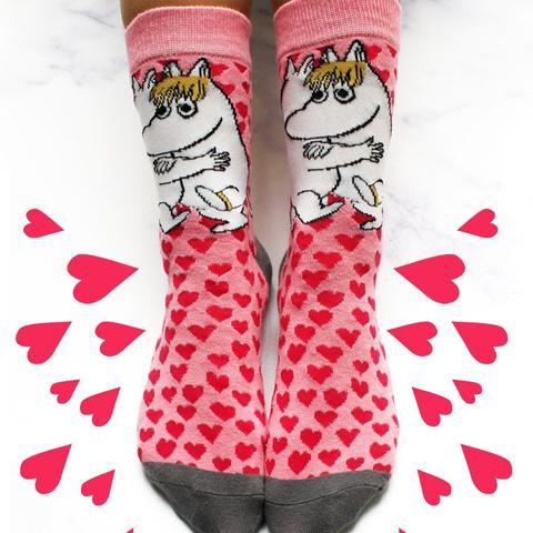 Moon Heart Print Ladies Socks