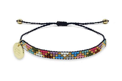 3 Row Multicolour Beaded Friendship Bracelet