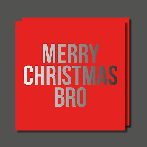Merry Christmas Bro Card