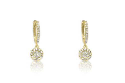 Gold CZ Drop Earrings