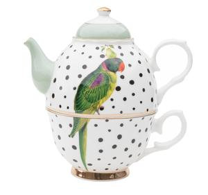 Parrot Polka Dots Tea For One