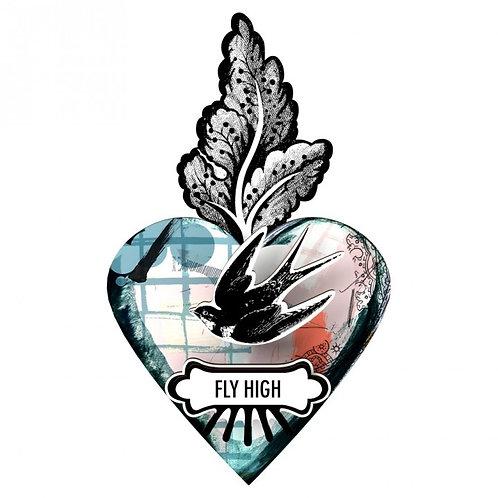 Fly High Decorative Heart