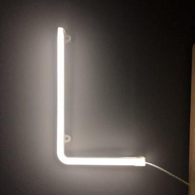 Neon Letter L White